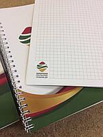 Изготовление блокнотов на пружине с вашим логотипом в Запорожье