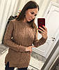 Удлиненный женский свитер - туника 33KF421