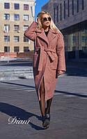 Буклированное пальто с карманами под пояс 14PA143, фото 1