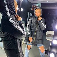 Зимняя спортивная куртка женская с капюшоном 18KU151, фото 1