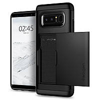 Чехол Spigen для Samsung Note 8 Slim Armor CS, Black , фото 1