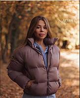 Короткая женская объемная куртка на молнии 70KU157, фото 1
