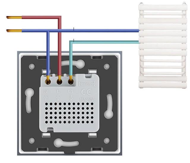 Схема подключения термостата Livolo
