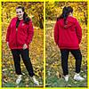 Женский спортивный теплый костюм-тройка в батале 10BR1112
