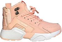 6b9e1af5 Женские зимние кроссовки Nike Air Huarache Acronym City MID Pink (найк аир  хуарачи высокие,