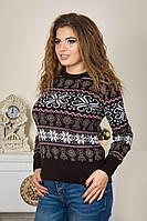 Новогодний свитер с праздничными колокольчиками р. 46-52
