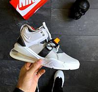 2361ed85 Nike Air Force 270 Light Grey | кроссовки женские и мужские; светло-серые;  осенние-весенние; кожаные 8.5us - 42eur - 26.5cm