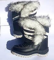 Зимние сапожки дутики для девочки 22-30 размеры