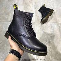 Зимняя обувь Доктор мартинс DR Martens Brooklee Lace Softy T черные УНИСЕКС на меху