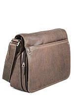 Кожаная сумка мужская почтальон через плечо   , фото 1