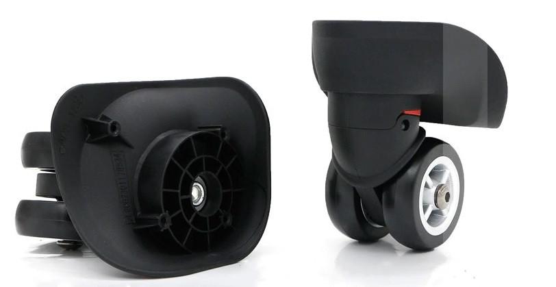 Колеса  для чемодана, диаметр 49 мм, черные, большие