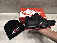 Зимние мужские кроссовки в стиле Jordan с мехом
