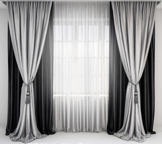 Шторы классические для гостинной,спальни ЦВЕТА В АССОРТИМЕНТЕ