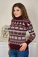 Новорічний светр з екіпажем оленів під горло р. 46-52