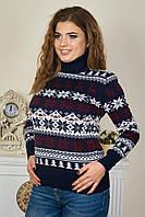 Новогодний свитер с экипажем оленей под горло р. 46-52