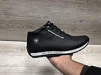 Зимние мужские ботинки с мехом в стиле Porsche, фото 1