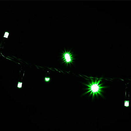 """Светодиодная гирлянда мерцающая """"ICICLE 108 LED"""" наружная 2*1(черный провод,зелёный цвет диода), фото 2"""