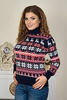 Рождественский свитер с экипажем оленей под горло р. 46-52