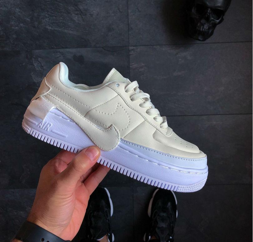 1136381b4 Nike Air Force 1 Jester XX White Cream | кроссовки мужские и женские;  кремовые-
