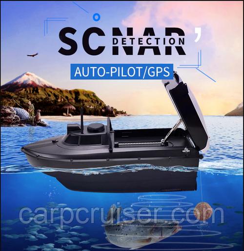 Кораблик для прикормки JABO-2CG-20A-S c GPS автопилот автовозврат и оригинальным Эхолотом новая модель