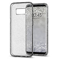 Чехол Spigen для Samsung S8 Plus Liquid Crystal Glitter, Space Quartz, фото 1