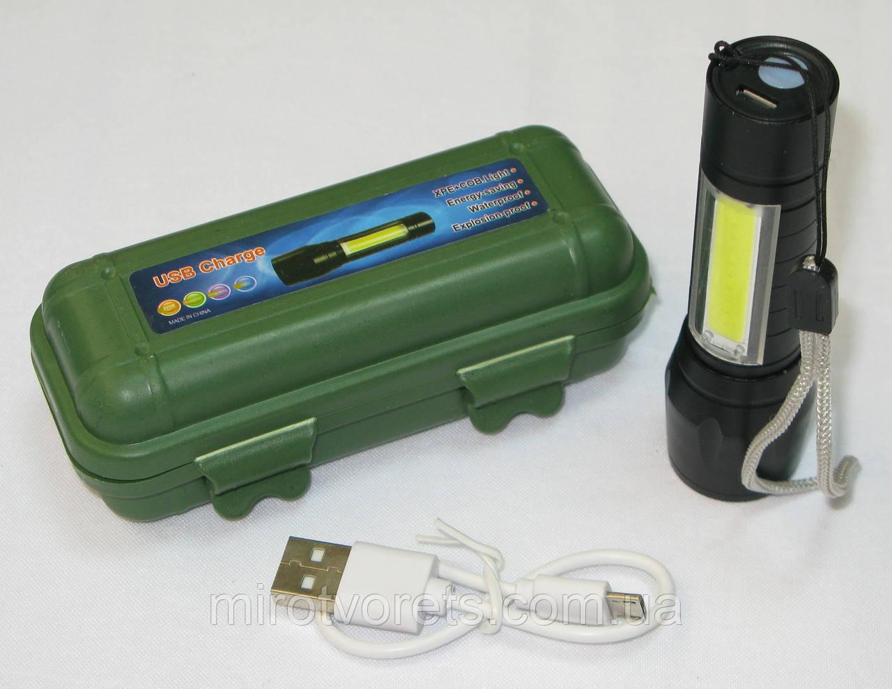 Фонарь аккумуляторный USB Charge, ZOOM