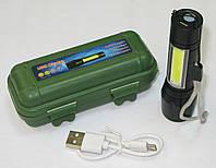 Фонарь аккумуляторный USB Charge, ZOOM, фото 1