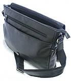 Кожаная сумка почтальон для мужчин через плечо   , фото 4