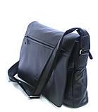Кожаная сумка почтальон для мужчин через плечо   , фото 2