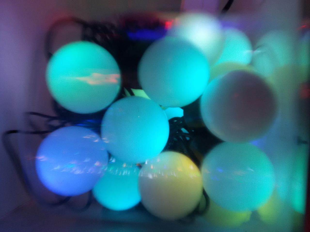 Гирлянда шарики 28LED  25mm  7и цветная