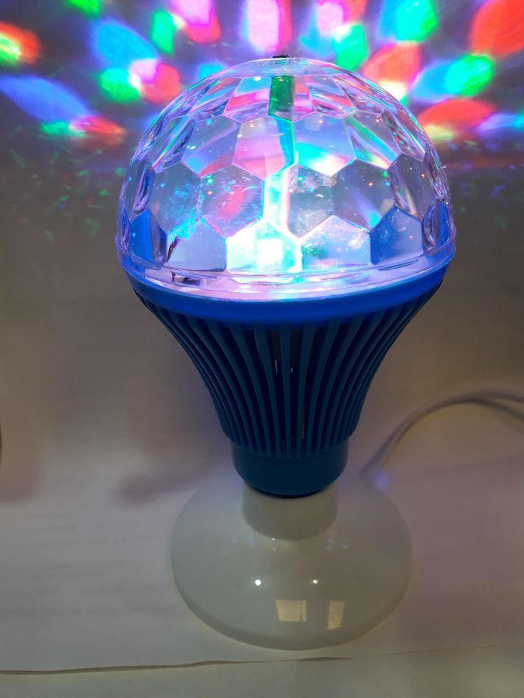 Диско лампа, вращающая лампа со шнуром 220в