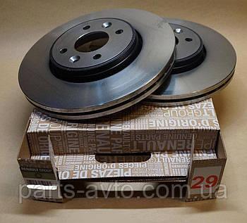 Комплект тормозных вентилируемых дисков 8201464598 Renault Kangoo (Original 8201464598)