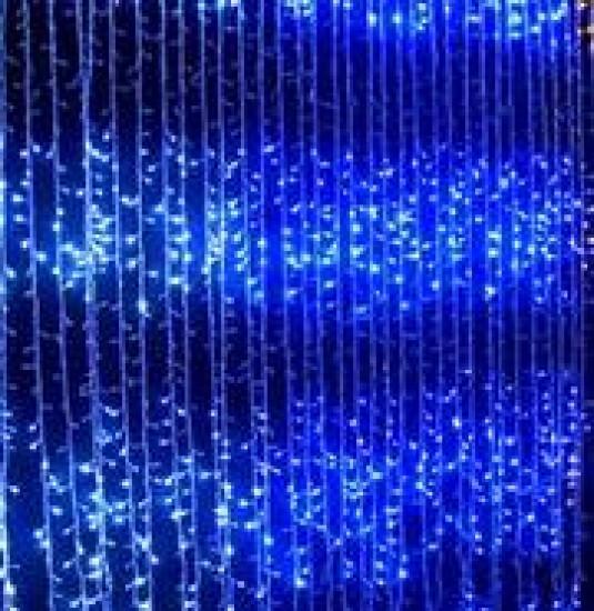 Гирлянда Водопад (Штора) 320 LED 5mm 3m*2m, синяя