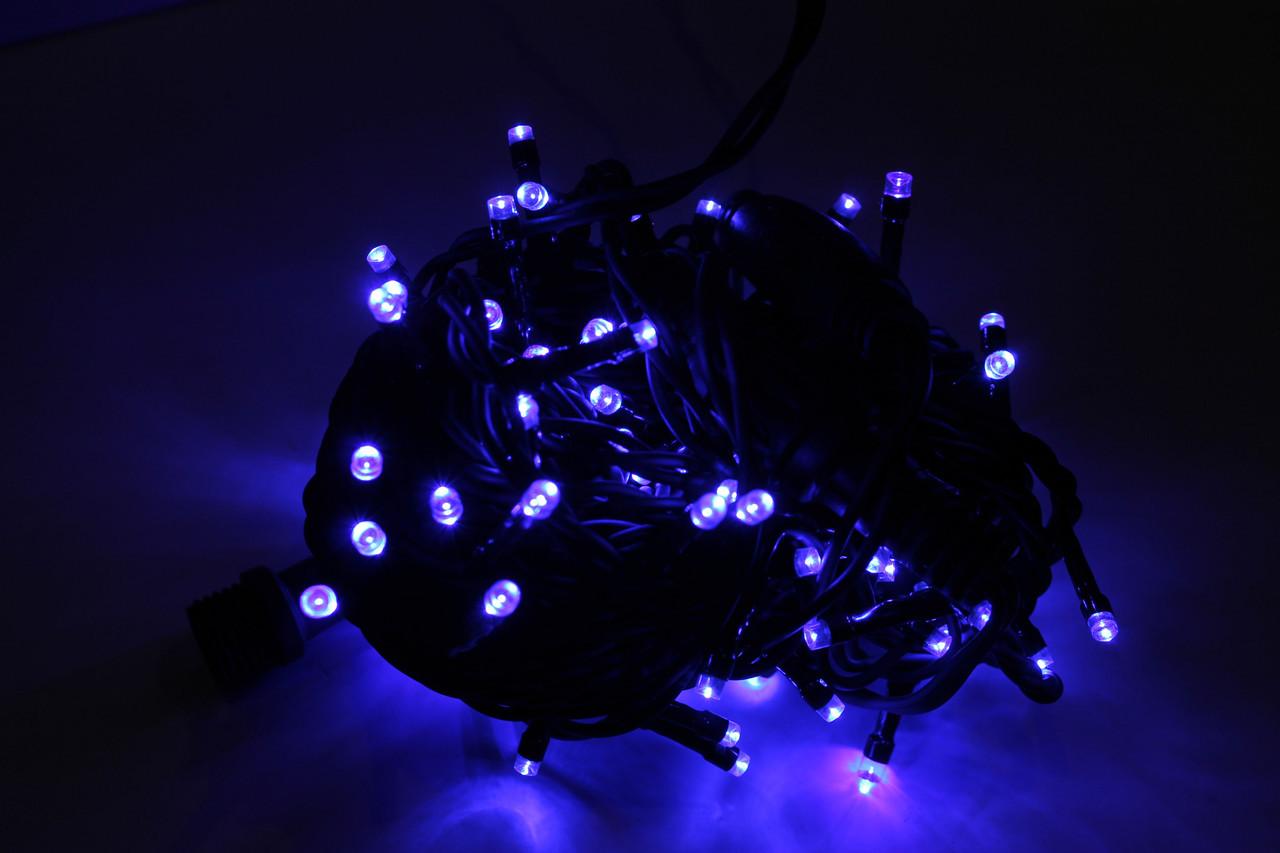 Гирлянда УЛИЧНАЯ нить(линия) 200 LED 5mm,16 метров,на Черном проводе, синяя