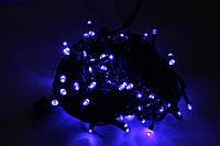 Гирлянда УЛИЧНАЯ нить(линия) 200 LED 5mm,16 метров,на Черном проводе, синяя, фото 1