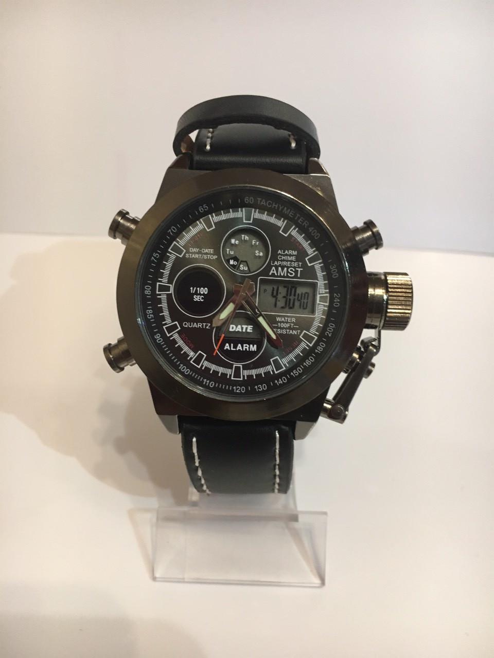 Мужские наручные часы AMST, черный антрацит, фото 1