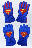 Непромокаемые перчатки для мальчиков Superman оптом, 7/8-11/12лет. {есть:11/12 лет}
