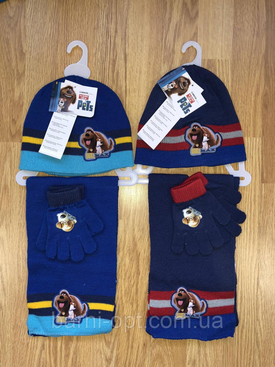 Комплекты шапка+шарф  детские оптом, Disney, 52/54 рр