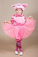 Дитячий карнавальний костюм Хрюша Порося для дівчаток 5,6,7,8 років Маскарадний костюм для дітей