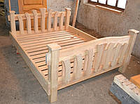 Кровать под старину (двойная спинка изголовья)