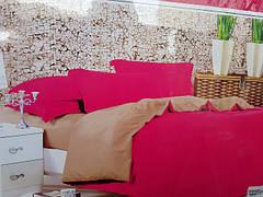 Двухспальные комплекты однотонного постельного белья. Сатин