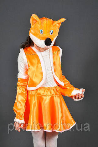 Костюм Лисичка 4,5,6,7,8,9 лет. Детский новогодний карнавальный костюм Лиса для девочки 342, фото 2