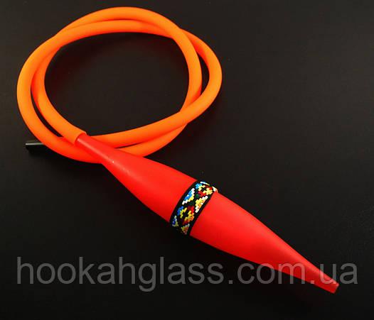 Шланг для кальяна с охладителем Ice Bazooka v2 Orange-Red (Soft Touch)
