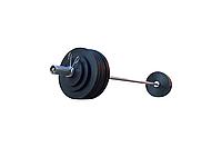 Штанга обрезиненная RN-Sport  165 кг с олимпийским грифом 220 см