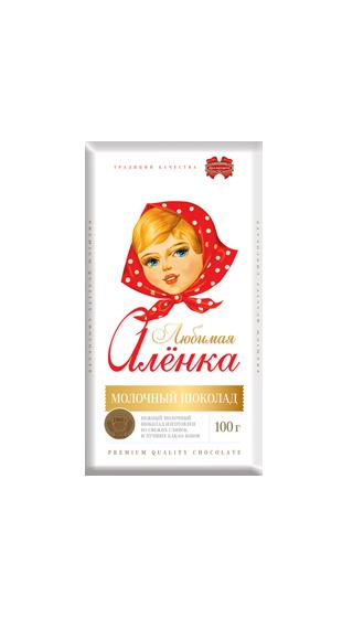 Шоколад молочный Любимая Аленка  из Беларуси
