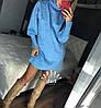 Ангоровое платье-туника под горло 1148