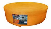 Демпферная лента IZOLON AIR 8мм*150мм*50м з насечками (оранжевая)