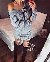 Сексуальное платье-туника со шнуровкой 0027, фото 1