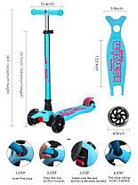 Трехколесный самокат для детей MicMax - Deluxe - Голубой, фото 3