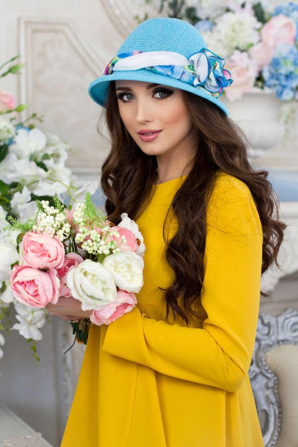 Шляпа «Сафари роза» (голубой)